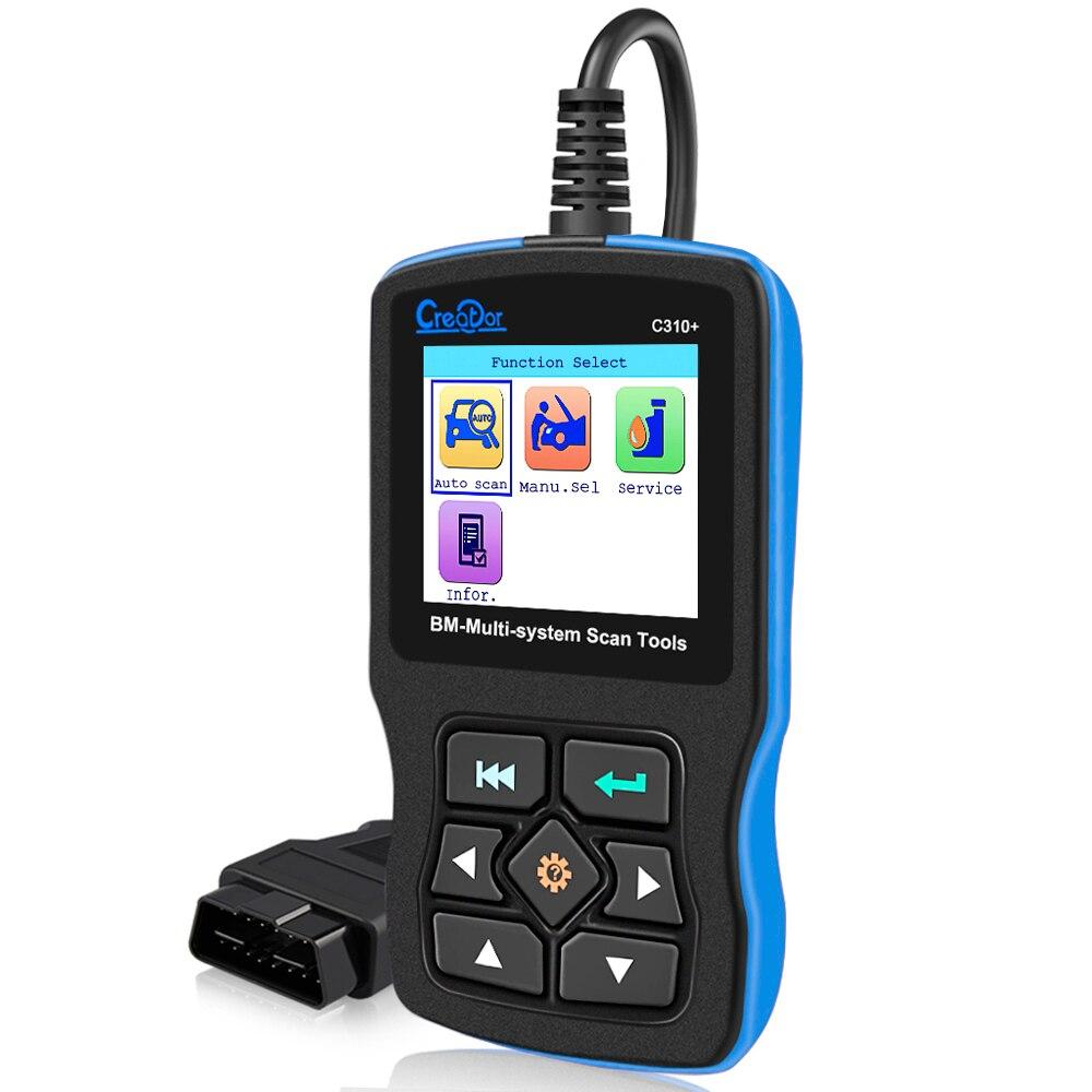 2019 Scanner para BMW e46 e90 e60 e39 OBD2 Criador C310 + Pro V8.0 Airbag/ABS/SRS Diagnóstico digitalização Reset Tool para BMW Leitor de Código de