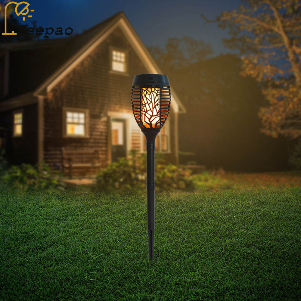Outdoor Led Light Is Flickering: 3 In 1 Solar Tiki Torch Lights 96 Led Dancing Flame