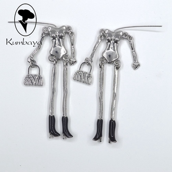 50 pcs/lot New Doll Necklace Alloy Naked Bodies with Enamel Feet Black White Colors DIY Accessories Handmade Statements NS238-08