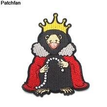 Patchfan 90s Niffler applique patches diy iron on shoe jeans shirt clothes punk stickers embroideried badges A1953
