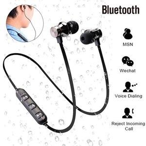 Image 5 - Спортивные наушники Bluetooth наушники Беспроводной гарнитура наушники с микрофоном Стерео Магнитная Blutooth для мобильный телефон