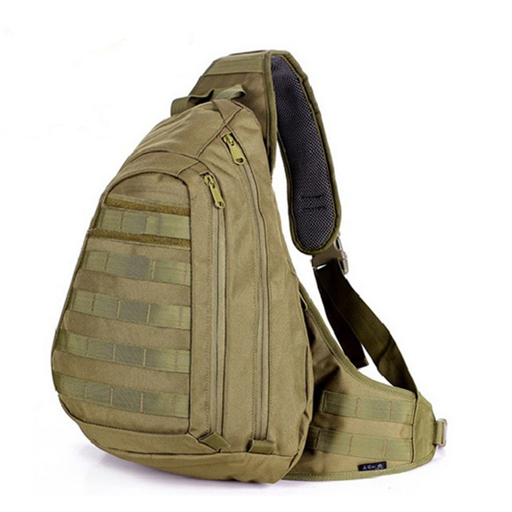 Tactical Chest Sling Pack Outdoor Sport A4 One Single Shoulder Man Big Large Ride Travel Backpack