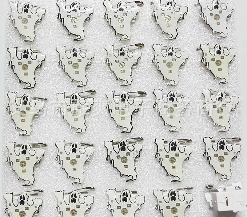 Jewelry & Accessories Brooches Temperate New 25pcs/set Popular Halloween Ghost Led Brooch Button Pin Party Favors Puzzle Toy Gift Le-38