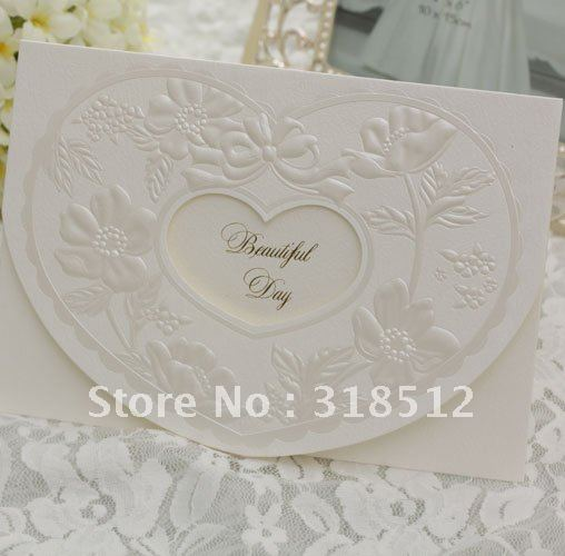 Embossed Arabic Wedding Card Designs