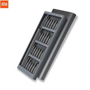 Image 2 - Xiaomi Kit de destornilladores de uso diario, 24 brocas magnéticas de precisión, caja de aluminio, bricolaje, juego de destornilladores para casa inteligente, 2020 originales