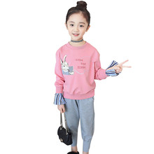 Girls Clothing Set Rabbit Shirt Autumn+Sport Pants 2 Pcs Casual Clothes Winter Costumes For Teen 6 8 12 Years