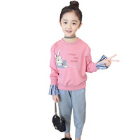 Girls Clothing Set Rabbit Girls Shirt Autumn+Sport Pants 2 Pcs Casual Girls Clothes Winter Costumes For Teen Girls 6 8 12 Years