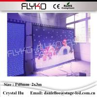 Impermeabile P40mm 2x3 m china sexy video tenda led wall display calda vide flessibile cortina led display
