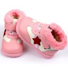 Утепленная Одежда для маленьких девочек мальчиков зимние сапоги из мягкой кожи детская обувь зимняя детские сапоги для девочек Дети детские первые ходоки обувь