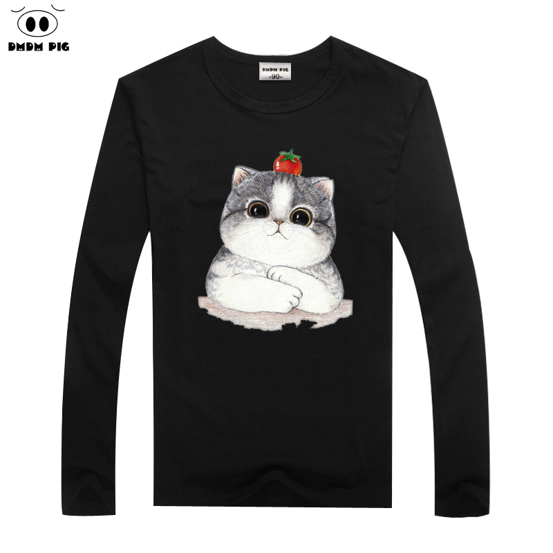 DMDM PIG Long Sleeve T Shirts For Boys Girls Tops Tees Cartoon Cat Children TShirt 2 3 4 5 6 7 Years T Shirts Baby Clothes-in T-Shirts from Mother  Kids on Aliexpresscom  Alibaba Group