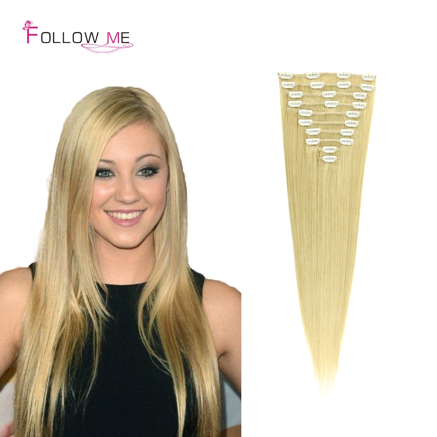 #22 Malaysian Clip in Hair Extensions 100G Clip in Remy Human Hair Extensions Full Head Real Human Hair Extensions Clip in