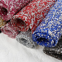 Bling Bridal Bouquet Rhinestone Banding 1 Sheet Lot 24 40cm Ab Color With Silver Hot Fix