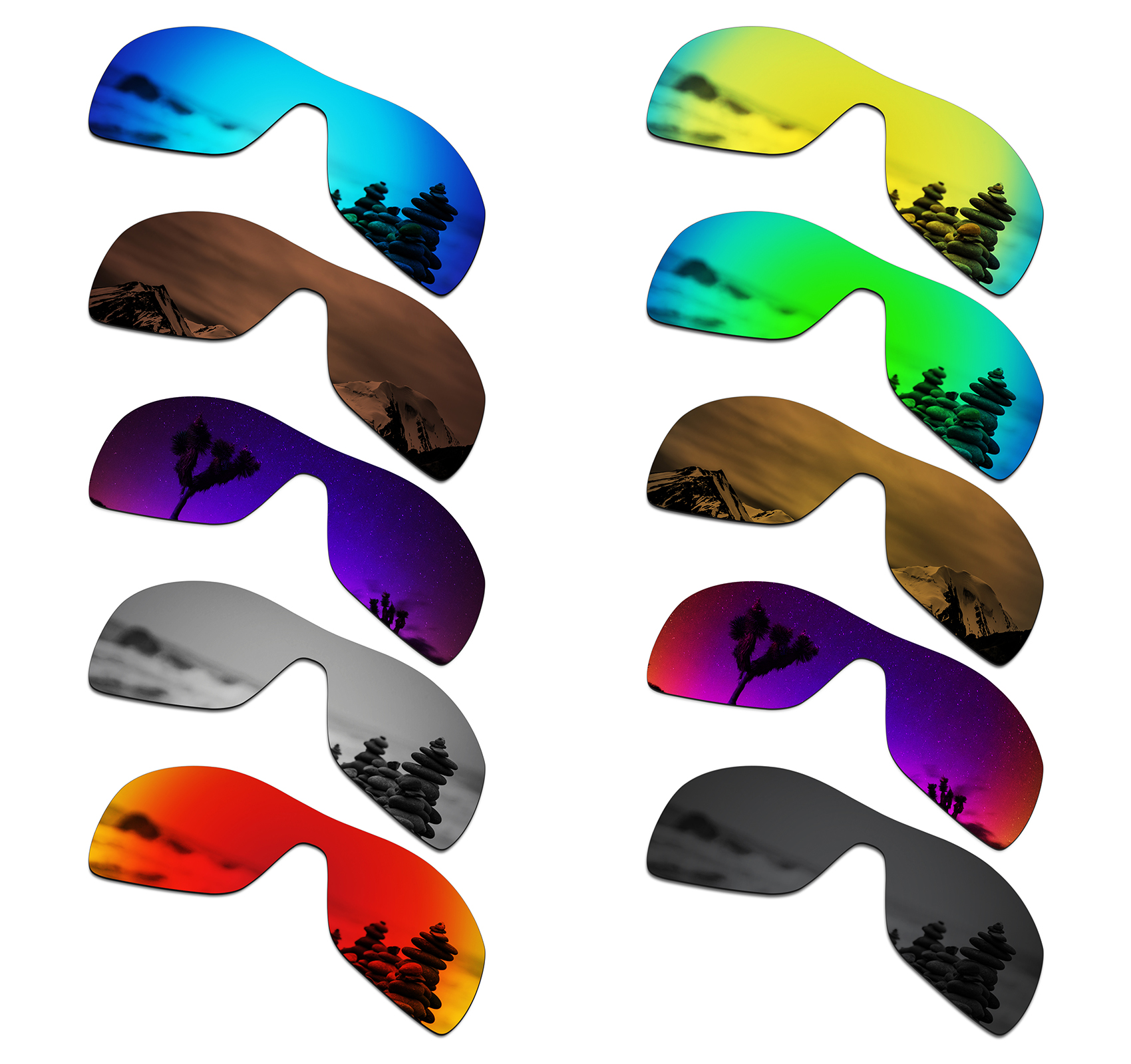SmartVLT Polarized Replacement Lenses For Oakley Antix Sunglasses - Multiple Options