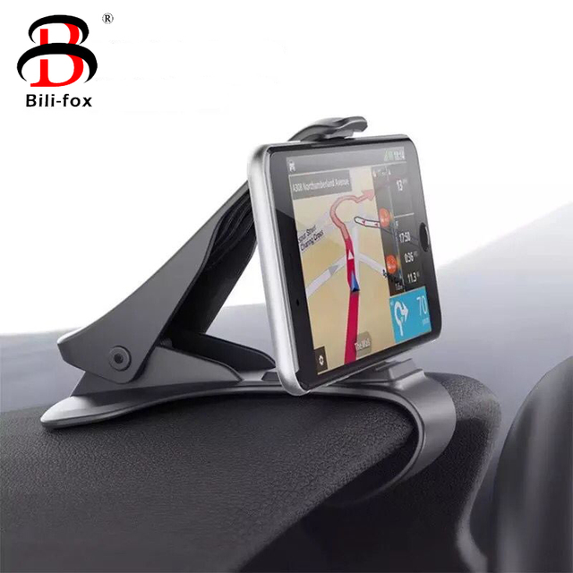 Phone Car Holder for iPhone Samsung Mobile Phone Universal Dashboard Mount Clip Air Outlet 360 Degree Rotating Car styling Stand