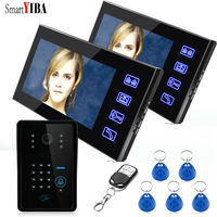 SmartYIBA 7 1000TV Line Touch Screen Visible Home Door Intercom 125KHz RFID Code Unlock Door Phone Dual Way Video Doorbell