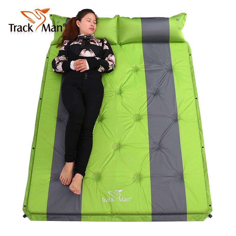 <font><b>On</b></font> sale 2017 brand new Trackman 192*132cm 2 persons PVC automatic inflatable mattress cushion outdoor camping mat moisture pad