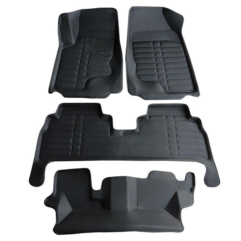 Meilleure qualité! Tapis de sol spéciaux personnalisés pour Mercedes Benz GL classe X164 7 sièges 2011-2006 tapis de voiture imperméables, livraison gratuite