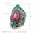 2017 Nova Turquia Jóias Anéis de Casamento Para As Mulheres de Cor Mosaico Ouro Rosa Grande Do Vintage Azul Cristal Moda do Presente do Amor