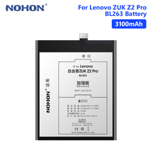 NOHON BL263 Battery For Real 3100mAh Lenovo ZUK Z2 Pro Z2Pro Rechargeable Internal Phone Bateria Batteries Free Tools