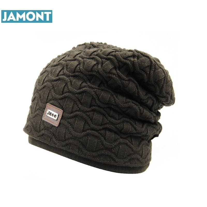 Warm Snow Winter Casual Beanies Solid 6 Colors Favourite Knit Hat Cap Hip Hop Casual Male Bonnet