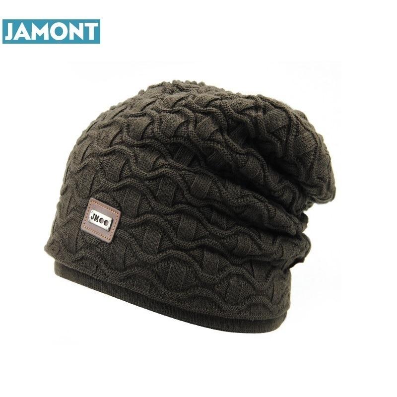 JAMONT New Fashion Men Women Warm Snow Winter Casual Beanies Solid 6 Colors Favourite Knit Hat Cap Hip Hop Casual Male Bonnet