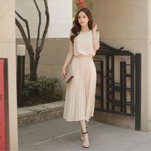 a996335bbcfa5 Kore Vintage Kolsuz Pilili Elbiseler 2018 Clobee Kadınlar yaz elbisesi Katı  Retro Ofis Giyim Bandaj şifon elbiseler HJ84