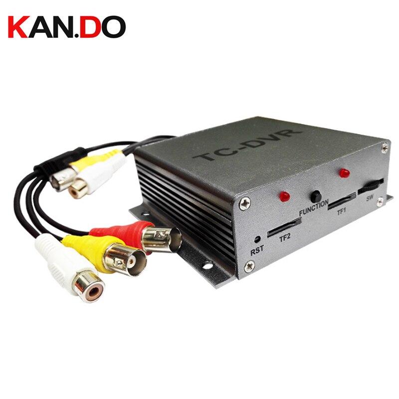 TC-DVR d'entrée vidéo à deux canaux MINI DVR Mini sécurité DVR enregistrement de carte SD mouvement détecté double carte TF synchronisation enregistrement vidéo