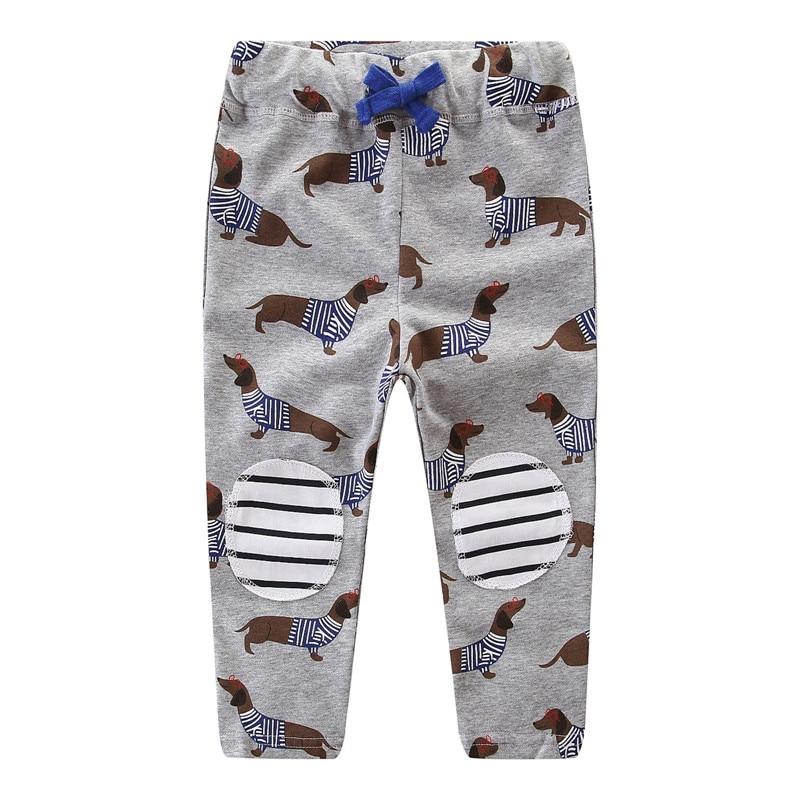 Jumping meters children sweatpants cotton animals printed kids trousers pants boys girls fashion 2018 clothing pants
