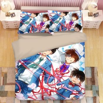 Detective Conan Japanese Anime Bedding Single Double king Size Good Quality Duvet Cover Sets for Children Teen Boys Girls
