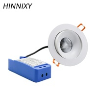 Hinnixy LED Dimmable Angle Adjustable Spot Downlights 5/10/15W 220V 90mm Hole Warm Natural Cold White Recessed Living Room Lamp