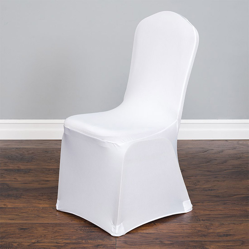 High Quality 100 Pcs White New Spandex Lycra Chair Covers