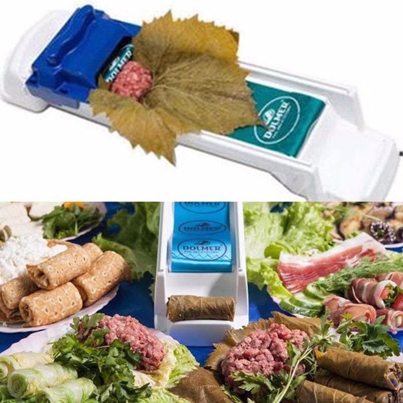 Uva blanda mágica y Herramienta para enrollar carne de vegetales Herramienta para enrollar hojas de col-Yaprak Sarma Dolmer roller machine Moedor de Carne