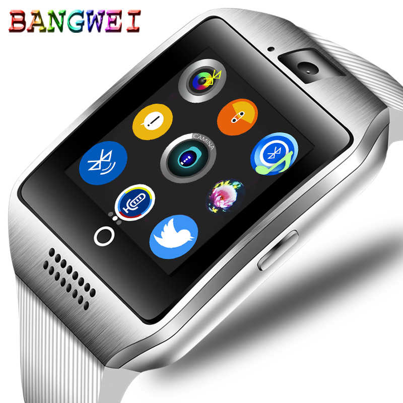 BANGWEI men's smart watch Bluetooth connection sports step music playback color screen support TI Sim smart watch