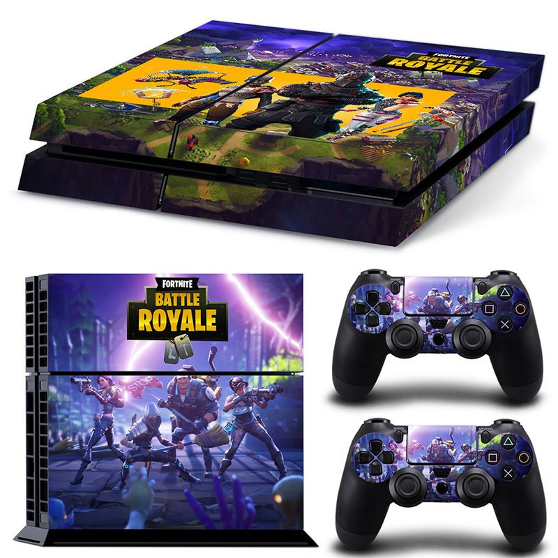 Game Fortnite for PS4 Skin Sticker For Sony PlayStation 4 Console and 2 Controllers
