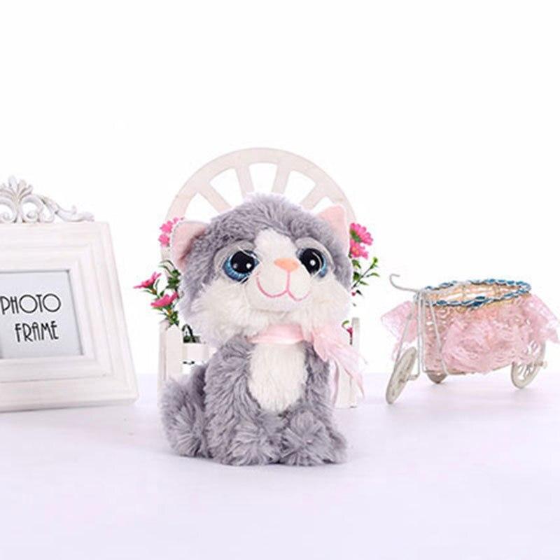 19cm small kawaii big eyes plush cats stuffed animals grey white