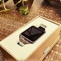 Excelvan smart watch aplus gv18 relógio notificador de sincronização suporte sim card conectividade bluetooth para telefone android smartwatch relógio