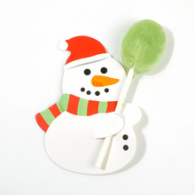 50pcs/Set Cartoon Christmas Lollipop Decorative Santa Claus Penguin Paper Cards Candy Xmas Party Decor Card