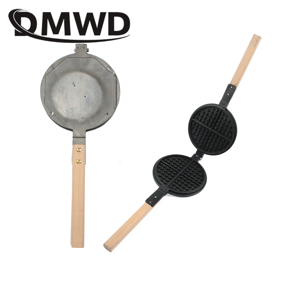 DMWD Eggs Waffle Mould Commercial Electric Gas Waffles Maker Non-stick Lattice Mold Baking Pan Cake Muffin Machine Accessories dmwd commercial stainless steel electric egg cake muffin oven waffle maker waffle muffin baking machine non stick 1000w 220v