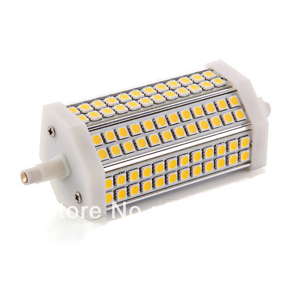Free shipping R7s 72 LED 5050 SMD Warm White Light Lamp Bulb 135m 800LM