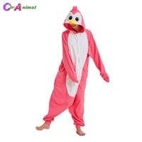 Women Pink Penguin Kigurumi Cartoon Animal Onesies Pajama Adult's Halloween Carnival Masquerade Party Jumpsuit