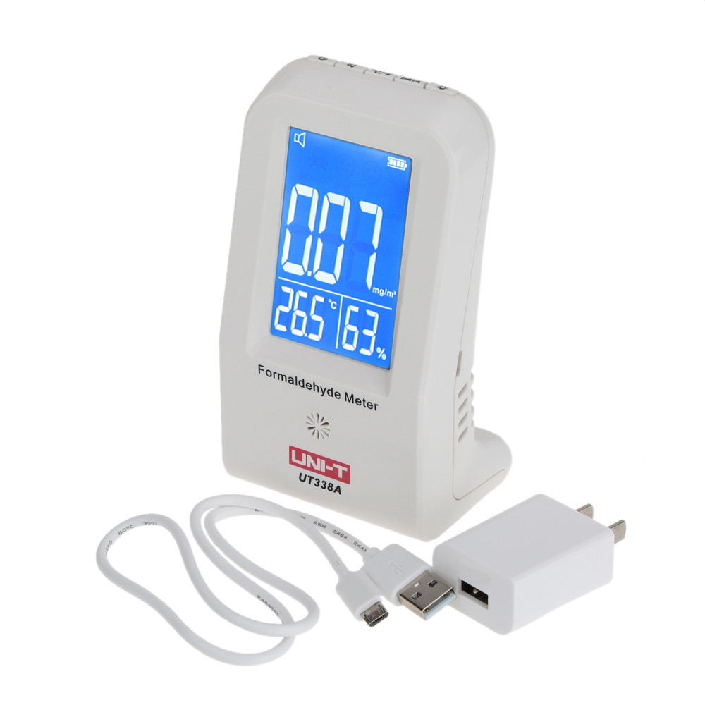 UNI-T UT338A Brand New High Precision Indoor Formaldehyde Data Logger Detector Air Monitor Thermometer Hygrometer LCDUNI-T UT338A Brand New High Precision Indoor Formaldehyde Data Logger Detector Air Monitor Thermometer Hygrometer LCD
