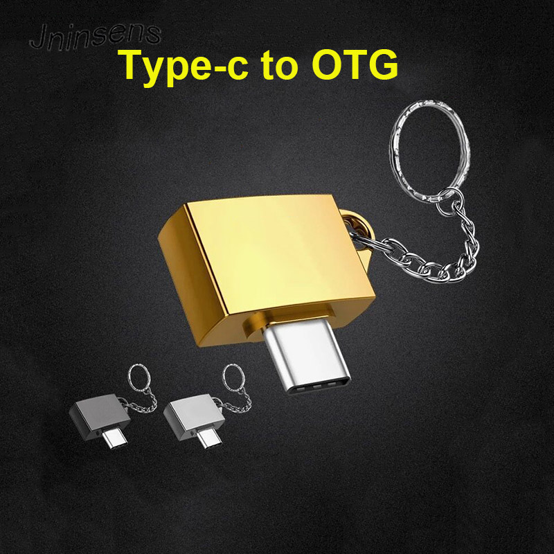 Metal Type C OTG Type-C To USB 2.0 OTG Connector Adapter Male To Female Adaptor with Key Chain for Phone Gamepad Keyboard Mouse