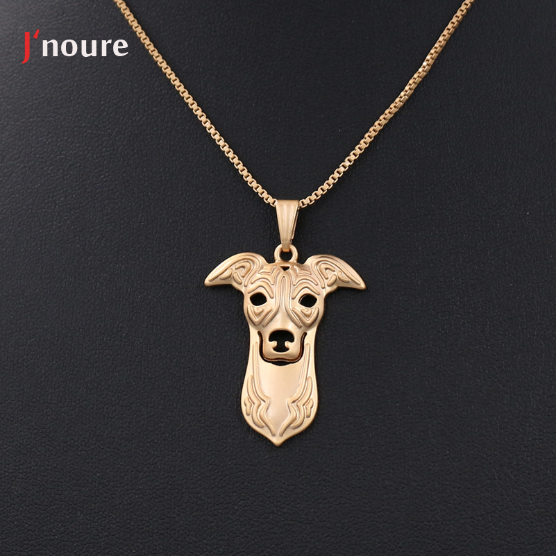 Fashion Jewelry Of Italian Greyhound Pendant Necklace Metal Alloy Cute Snake Chian Animal Dog Necklace Gifts For A144