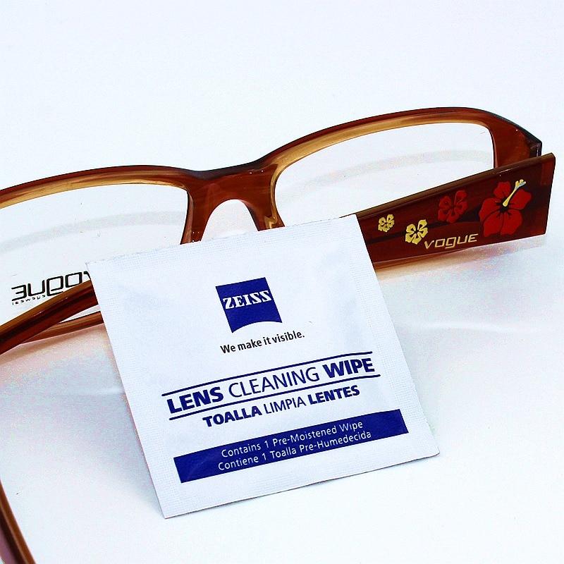b961cf6bf252f Pré umedecido Lente Zeiss Toalhetes de Limpeza para Lentes de Óculos Óculos  de Sol Óculos de Lente Lentes Da Câmera do Telefone Celular Portátil Pacote  ...