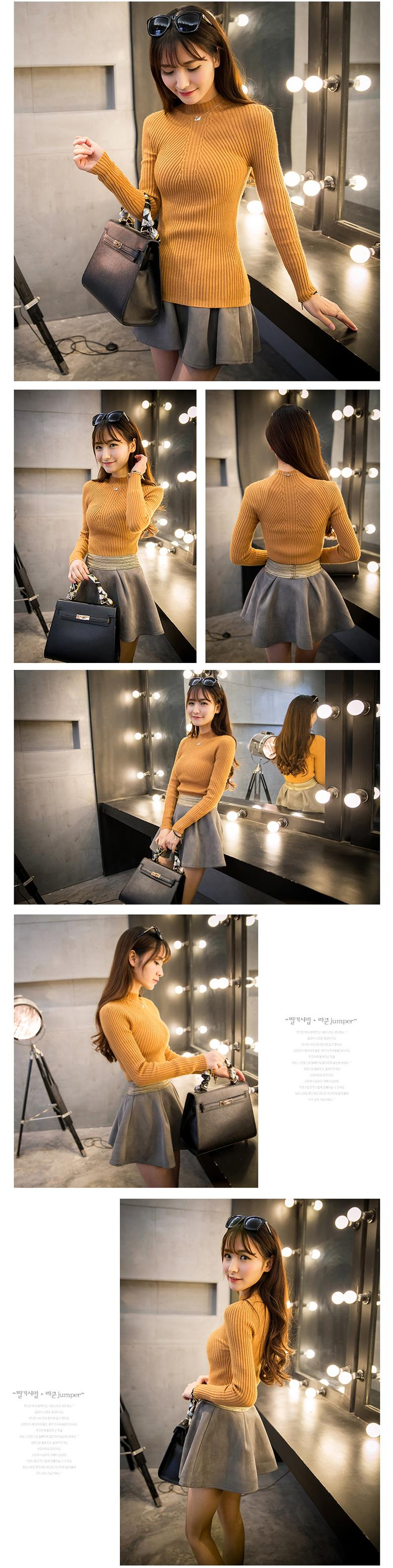 New 17 Spring Fashion Women sweater high elastic Solid Turtleneck sweater women slim sexy tight Bottoming Knitted Pullovers 25