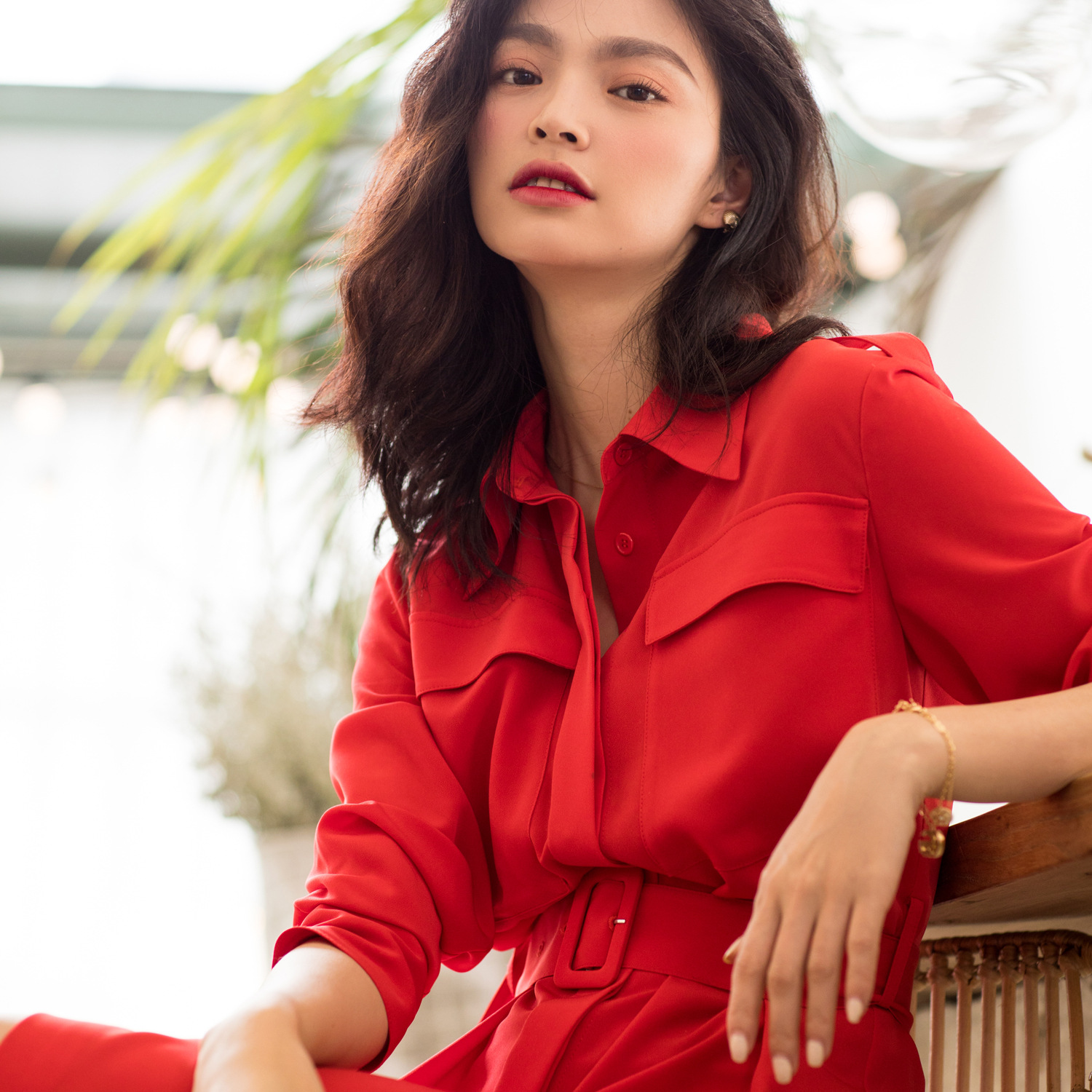 2019 Spring and Summer New Model In The Same Section of The Long Red Dress Femininity Match Korean Version Black Dresses Women in Dresses from Women 39 s Clothing