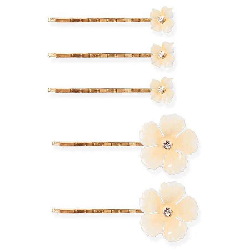 5 יחידות\סט מתוק סגסוגת פרח שיער סיכות שיער קליפ לנשים כלה כיסוי ראש קריסטל שיער סיכת שיער מקל ילדה שיער אבזרים