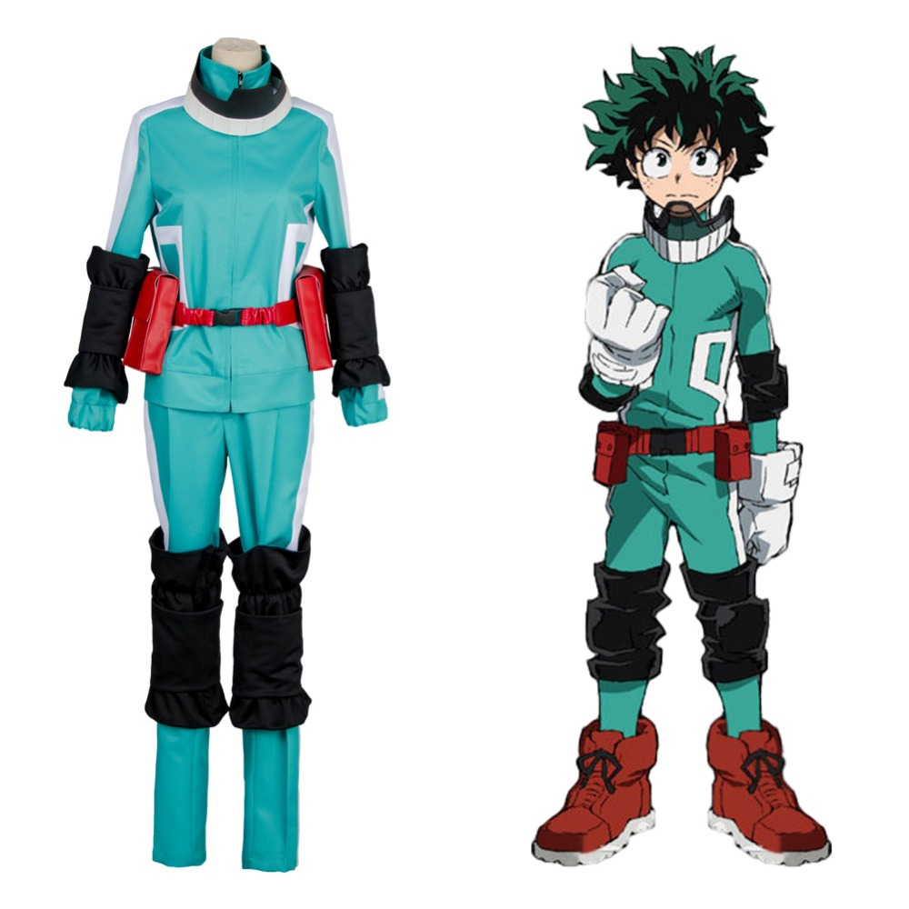 Boku no Hero Academia My Hero Academia Izuku Midoriya Battle Suit Cosplay Costume For Adult Women Men Halloween Carnival sets