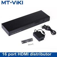 MT Lamoda HDMI сплиттер в 16 из 1 в 16 из Экран splitter 16 телевизоры/ЖК мониторы Дисплей же изображения 4 К 2 К 1080 P maituo sp1016
