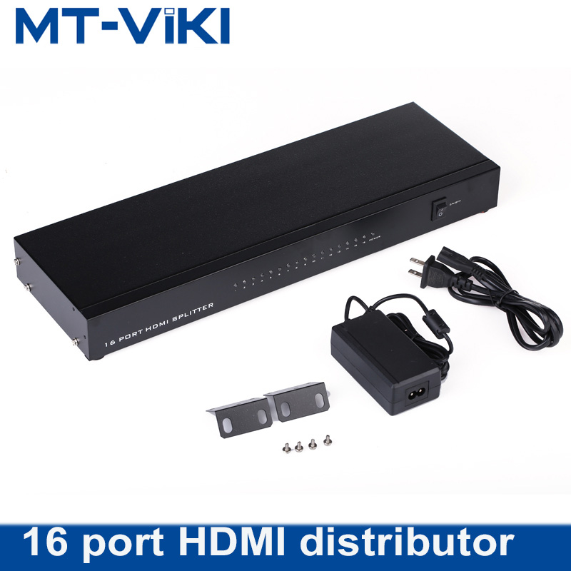 MT-VIKI HDMI Splitter Into 16 Out 1 In 16 Out Screen Splitter 16 TVs/LCD Monitors Display Same Image 4K 2K 1080P Maituo SP1016 aixxco hdmi splitter audio decoder 4k